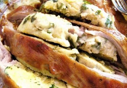 Pancetta d'Agnello Ripiena al forno