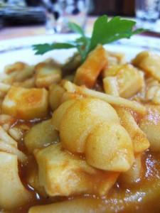 pasta e patate con seppie